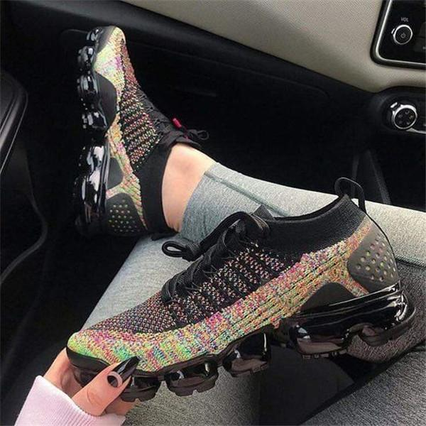 Zoeyootd Lace-Up Woven Air Cushion Running Casual Sneakers