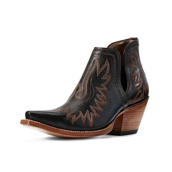 Mokoshoes Women's  Western Distressed Leather Boots