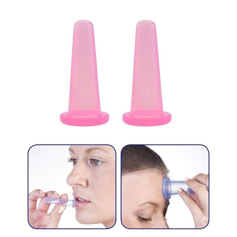 2pcs Jar Vacuum Cupping Cans For Massage Suction Cup Chinese Suction Cups Face Massage Cans Anti Cellulite