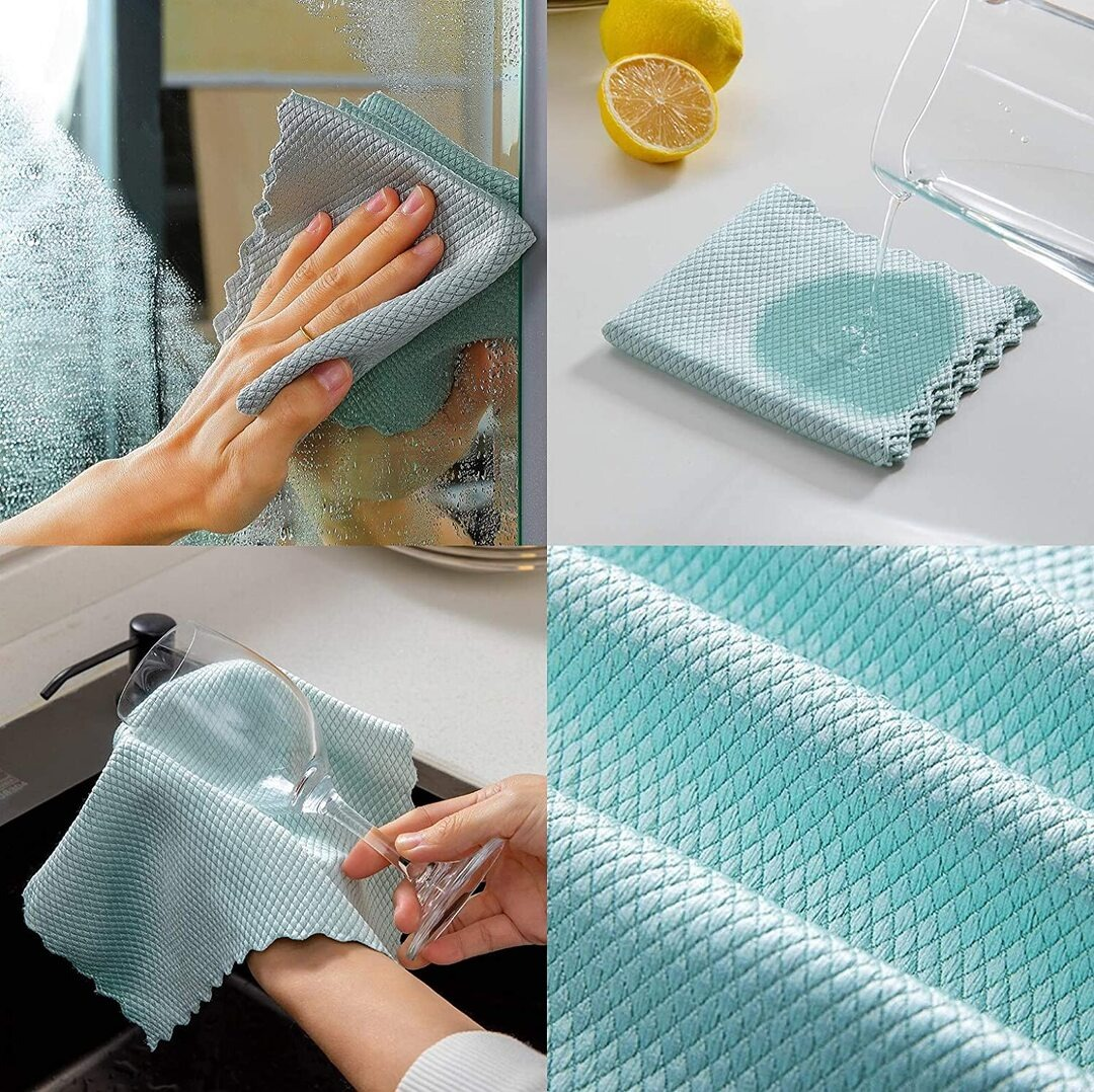 Fish scale rag--Super absorbent without leaving marks 🔥Buy 3 get 1 Free🔥