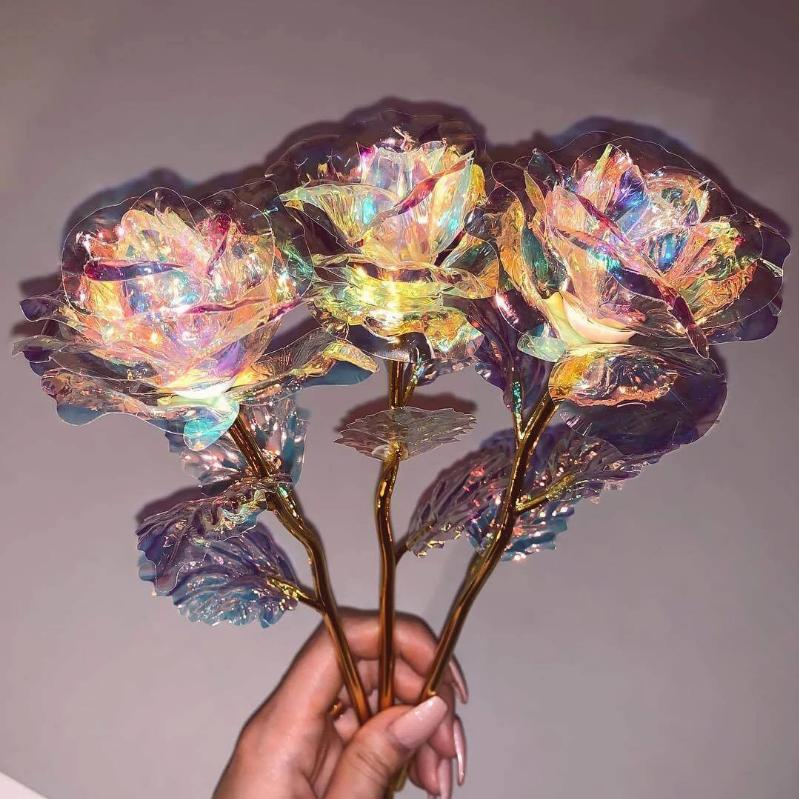 [50% OFF & Guaranteed Ship On Time]24K Gold Foil Galaxy Rose For Your Loved One
