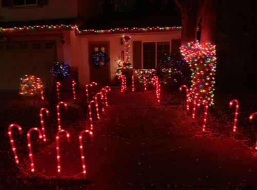 (Black Friday Pre Sale - 50% OFF)Solar energy Christmas Candy Cane Pathway Markers