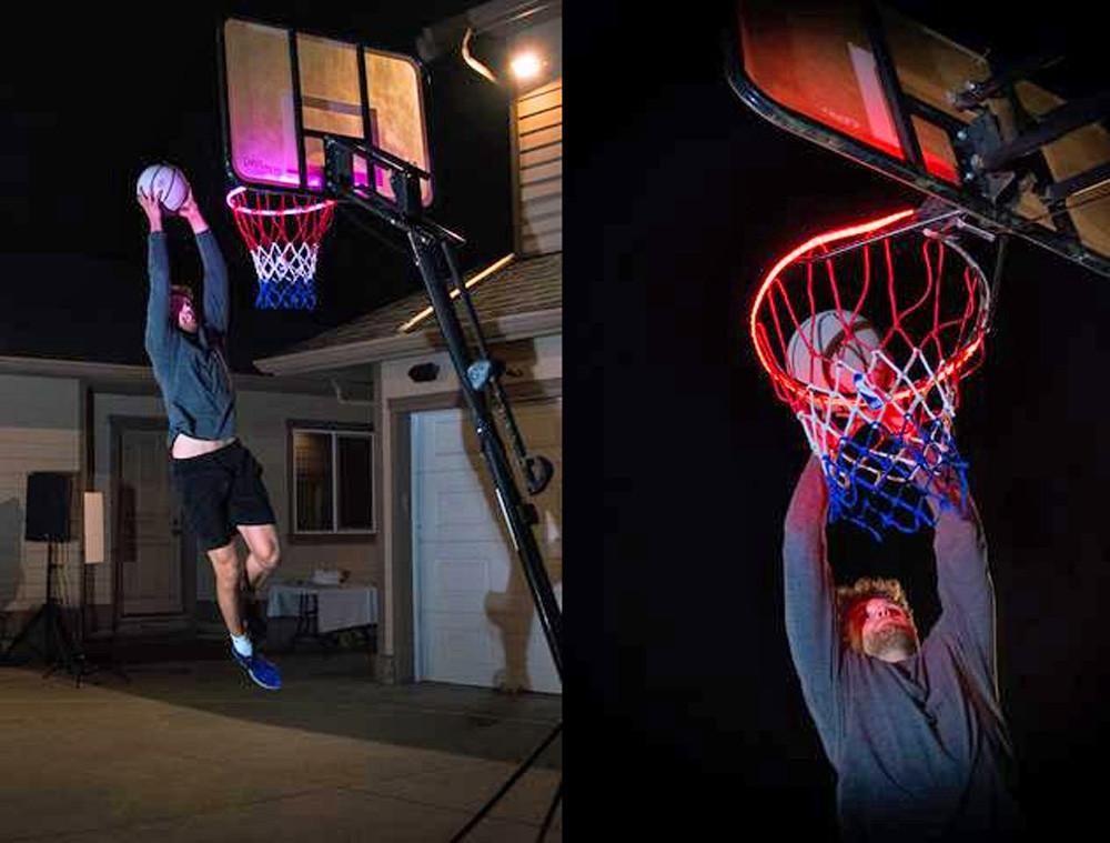 Basketball Hoop -Activated LED Strip Light-7 Flash Modes