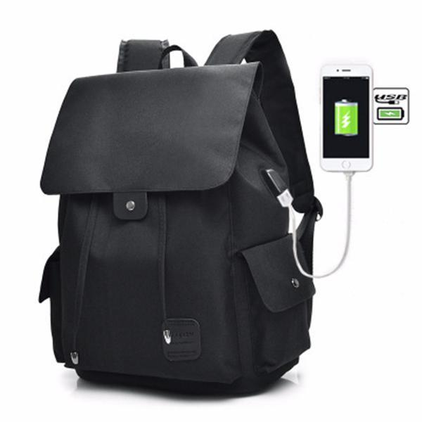 Unisex USB Charging Multifunctional Drawstring Backpack