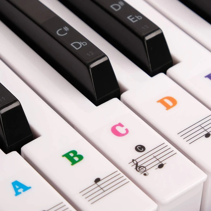 50% Off For a Limited Time--Ultimate Full Set Piano Key Sticker