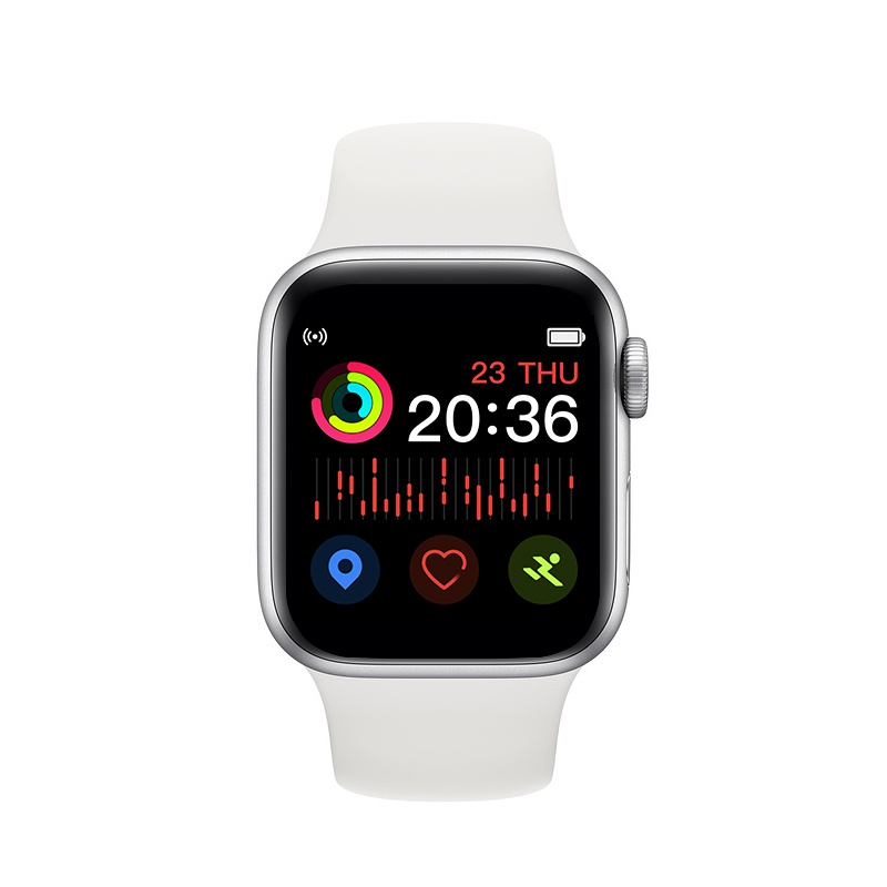 2020 NEW As Apple's 5th Generation Smart Watch Work Support Heart Rate Detection Blood Pressure Test Sleep Monitoring Bluetooth Call Waterproof Sports Smarrwatch Exquisite Tracker Smart Bracelet Wristband for Android IOS Smartphone