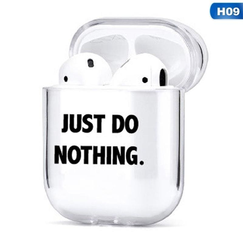Funny New Pattern Clear Hard Pc Shockproof Protective Cover Case For Apple Airpods( (Airpods Not Included))
