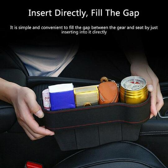 Multi-function Built-in Car Seat Slit Storage Box Universal Car Accessories