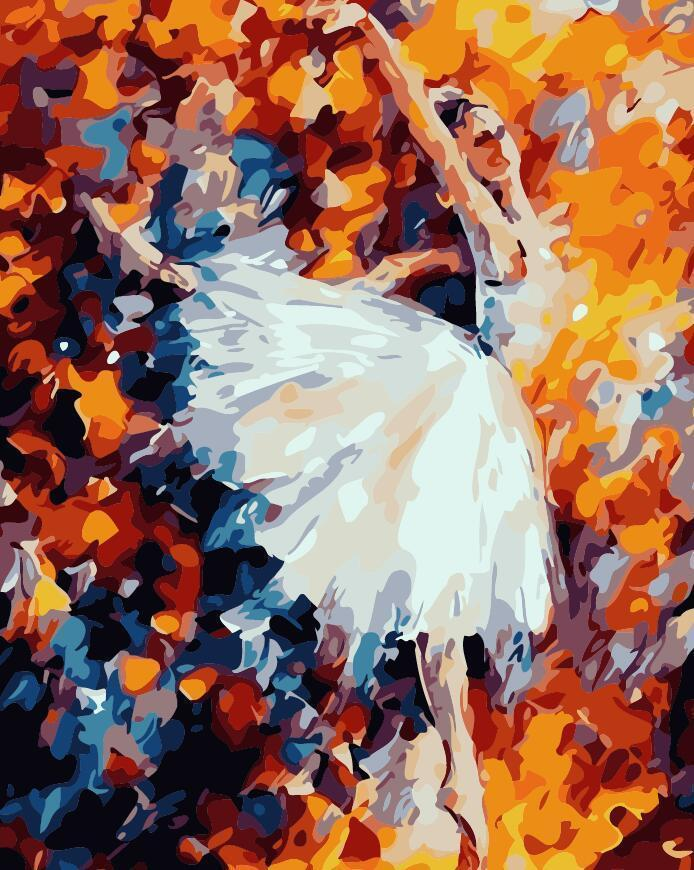 DIY Painting By Numbers -  Colorful Ballet Dancer (16