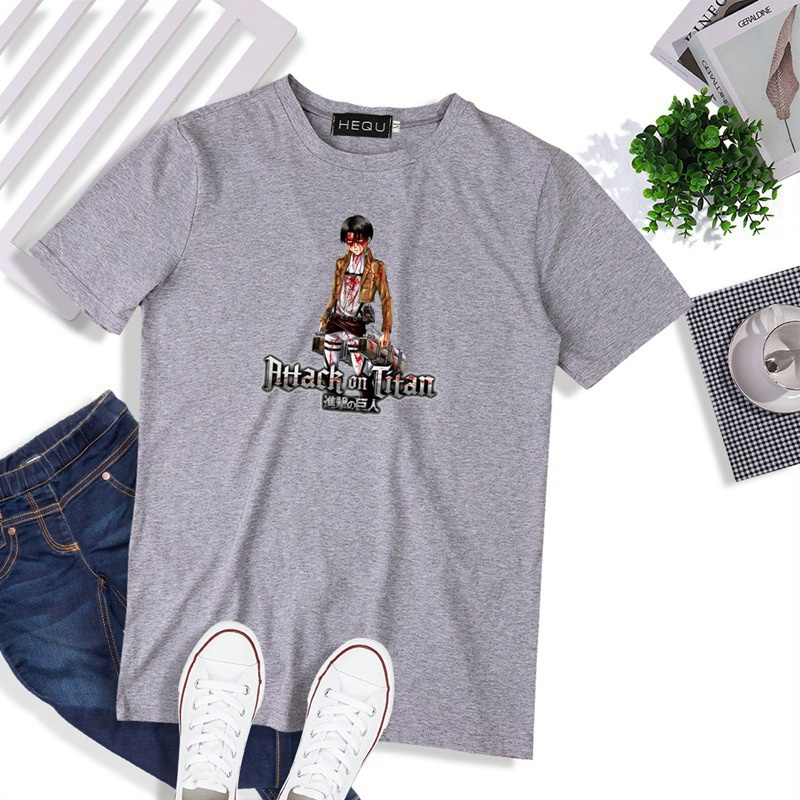 Attack On Titan Anime Casual Short Sleeve T-shirt