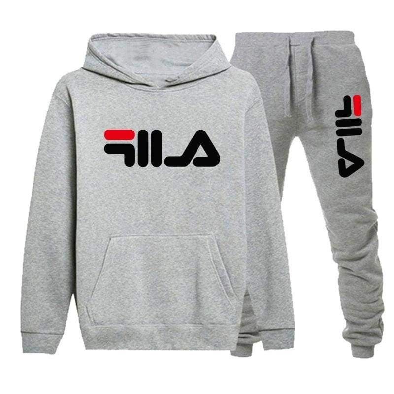Autumn and Winter Mens Printed Sport Hoodie Sets Casual Gym Suit Hoodie and Pants 2 PCS Tracksuits Clothes