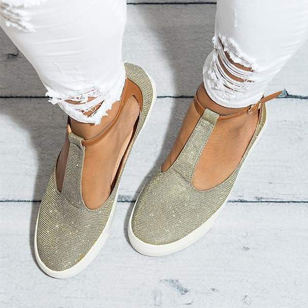 Zoeyootd Miss T-Strap Sneakers
