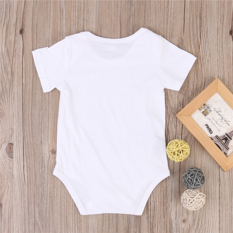 Baby Boy Clothes Baby Girl Clothes Short Sleelve Letter Printed Rompers Baby Clothes Daddy's Girl Toddler Infant Jumpsuit