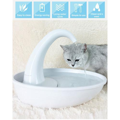Automatic Swan Shaped Pet Cat Dog Water Dispenser Feeding Water Flowing Fountain Pet Cat Drinking Bowl Electric Water Dispenser