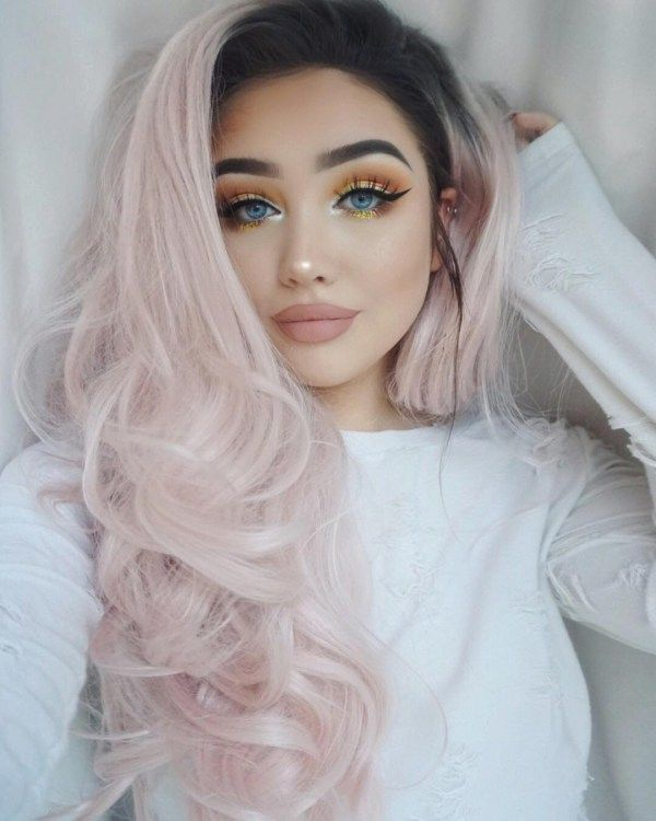 2021 New Lace Front Wigs Hair Color 2019 Lowlights For Dark Hair Grey 360 Lace Wig