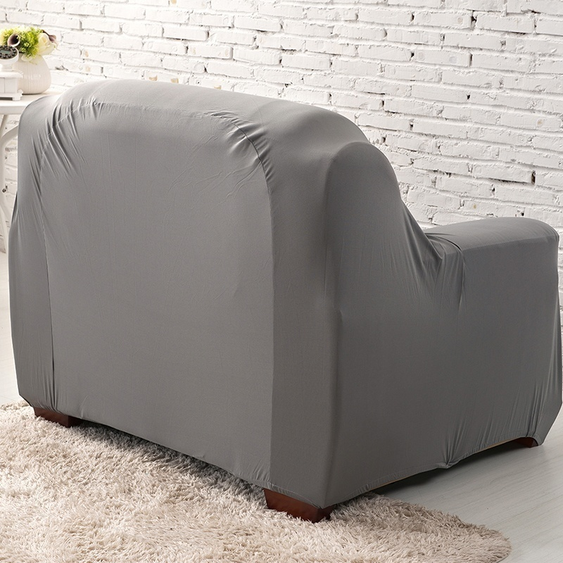 1/2/3/4 Seats Sofa Couch Cover 17 Solid Colors Slipcovers Home & Living Sofa Cover  L Shape Recliner Protector Cover Set