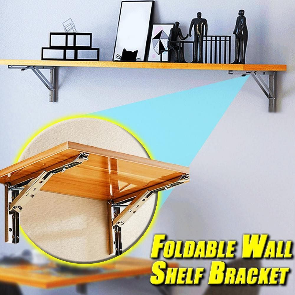 Cumulus Max™ Foldable Wall Shelf Bracket (2pcs)