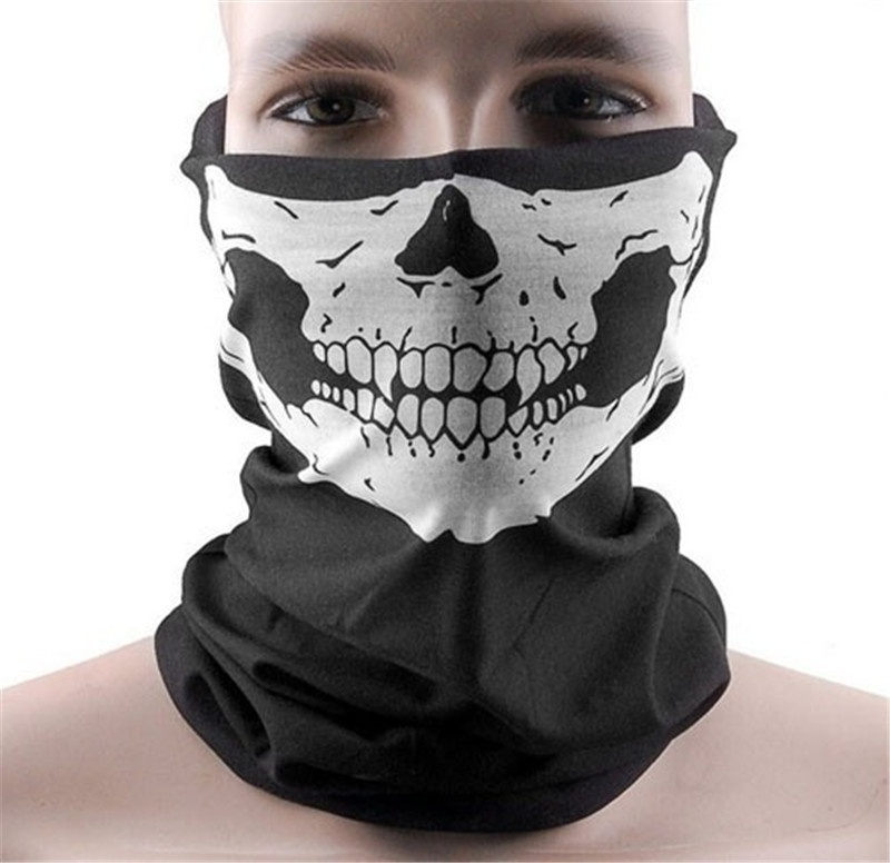 Creative Multicolor Skull Bandana Breathable & Stretchy Fabric Bike Motorcycle Sports Helmet Neck Face Mask Paintball Ski Sport Headband