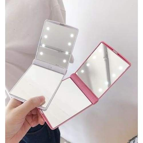 Lighted Makeup Mirror Lighted Mirror 8LED Folding Makeup Mirror Led Small Mirror LED Makeup Mirror