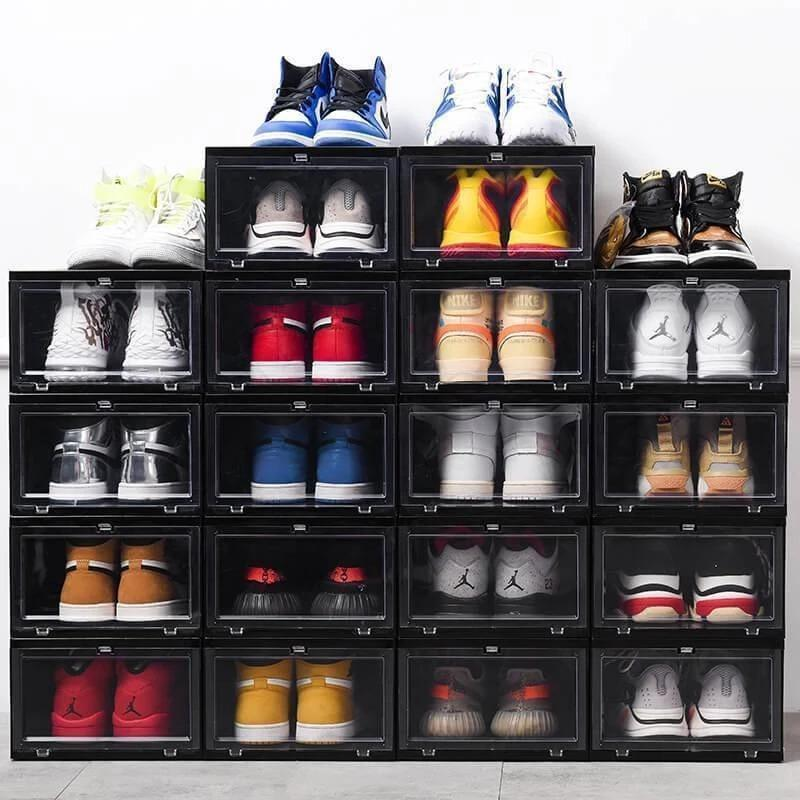 84% OFF Today-Drawer Type Shoe Box-Stacking Storage Box Shoes Container