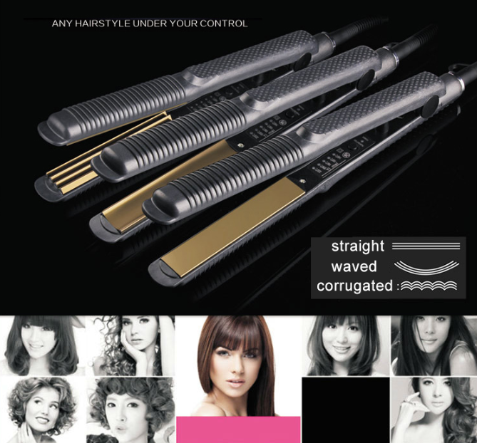 (Holiday Promotion - 60% OFF)Automatic Release Negative Ions 2 in 1 Hair Curler and Straightener