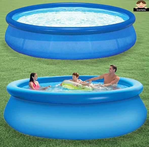 Hot Super Summer with Air Pump 12ft x 36in Quick Set Inflatable Above Ground Swimming Pools
