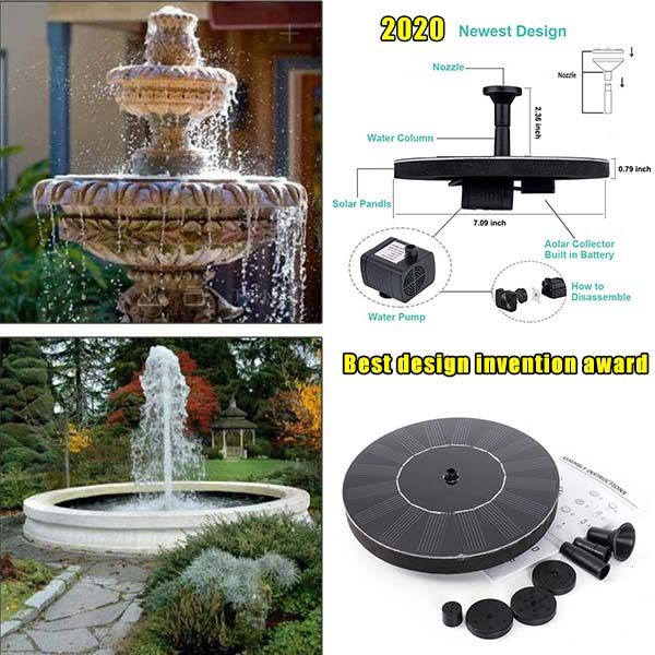 🥇(Last Day Promotion 50% OFF)----Solar Powered Bionic Fountain
