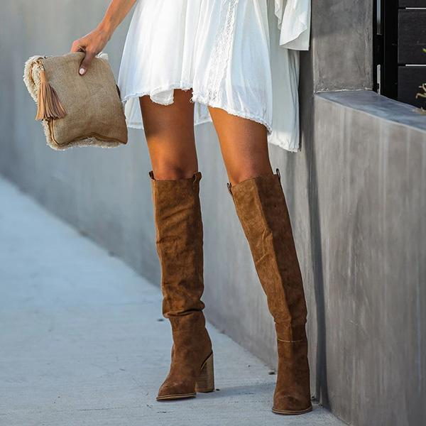 Mokoshoes Distressed Faux Suede Slouch Boots