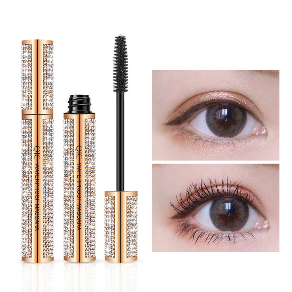 🥇(Last Day Promotion&60% OFF) Worldwide limited sale of 4D inlaid hundreds of diamond waterproof silk fiber thick mascara