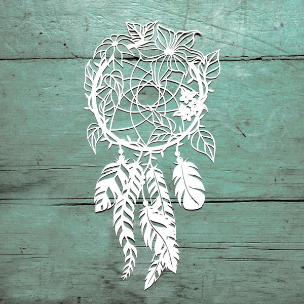 Dream Catchers Metal Cutting Dies Scrapbooking for Photo Album Card Making DIY Embossing Cuts New Craft Die Wreath Feather