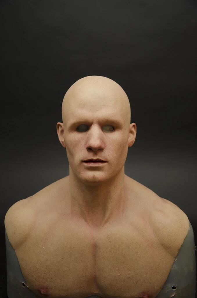 Young muscle man mask