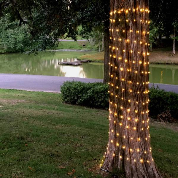 36ft Solar-Powered LED Copper-Wire Fairy Lights