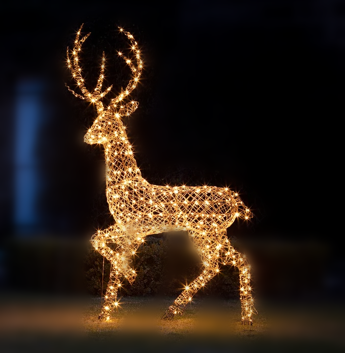 🦌Glass Family Christmas Luminous Figurine