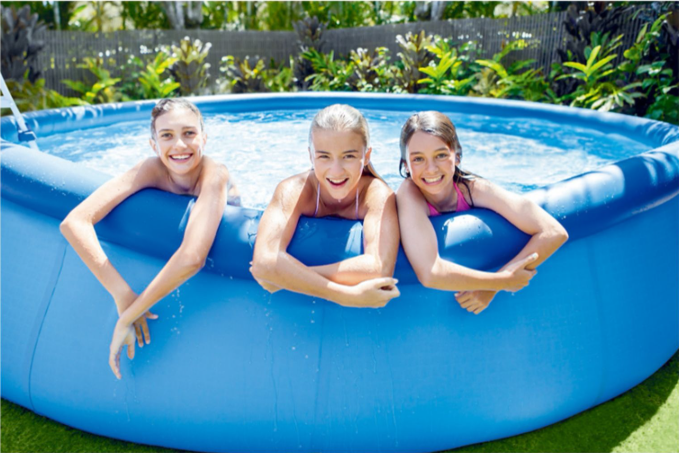 Cool Summer Updated Easy Set Pool Set with Filter Pump 12 ft x 36 in