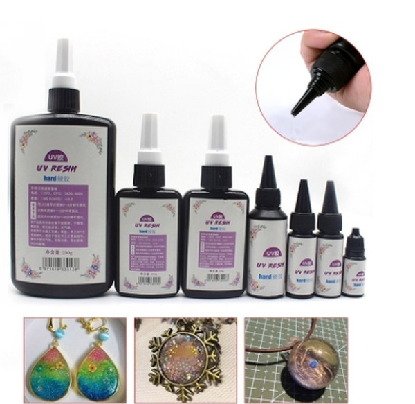10/25/50/60/100g DIY UV Ultraviolet Resin Curing Solution Quick-drying Non-toxic Sunlight Activated Hard