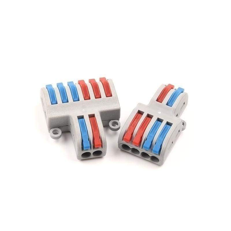 5/10 PCS SPL Quick Multiple Pin plug-in electric connector Universal compact wire wiring connectors terminal block with lever
