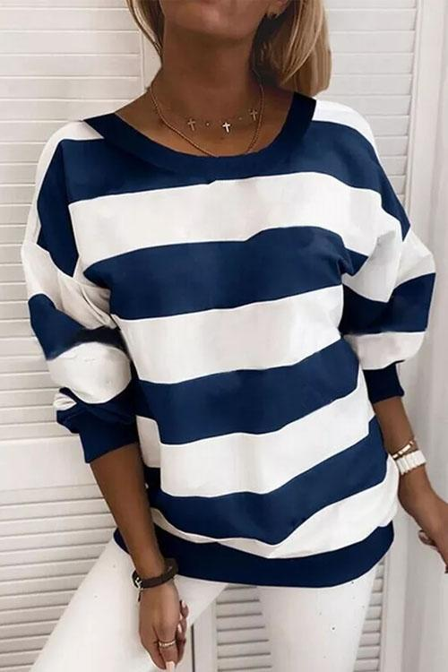 Flodress Wide Striped Sweatshirt T-shirt