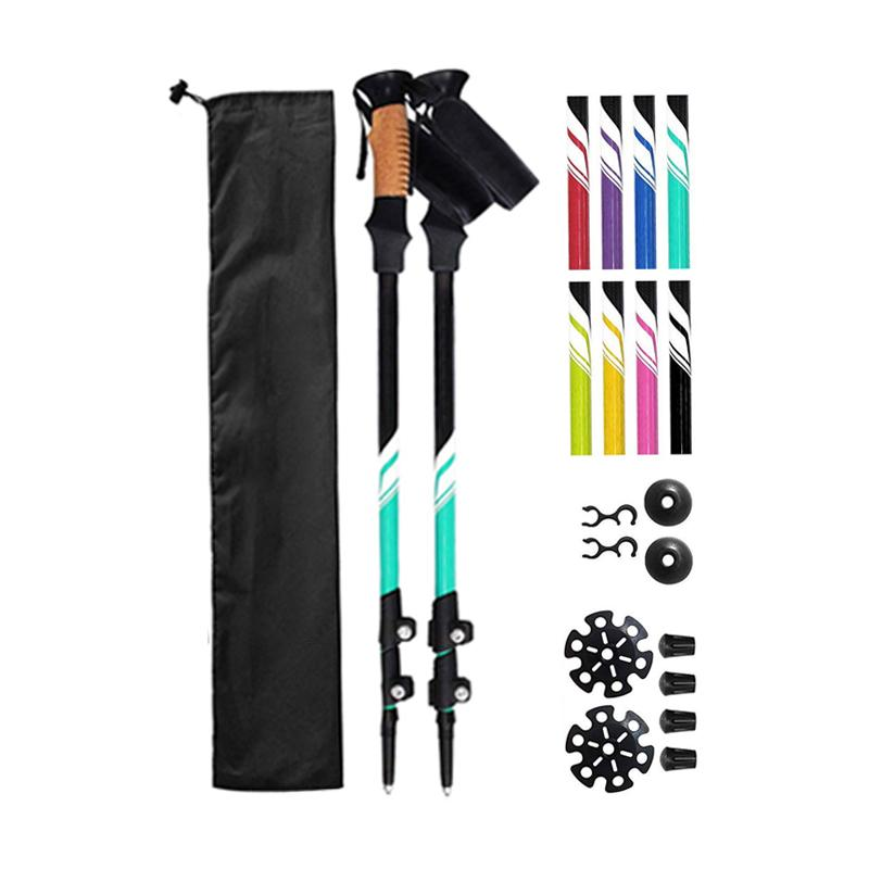 carbon  fiber folding hiking sticks  tips high strength ultralight trekking pole
