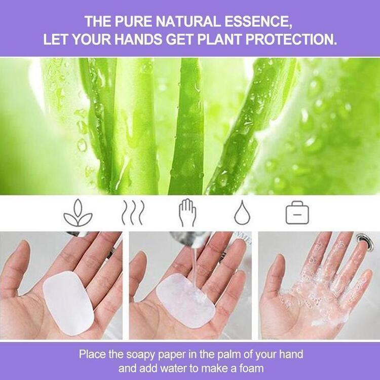Portable Soluble Disinfecting Skin Care Soap Paper(20 PCS)