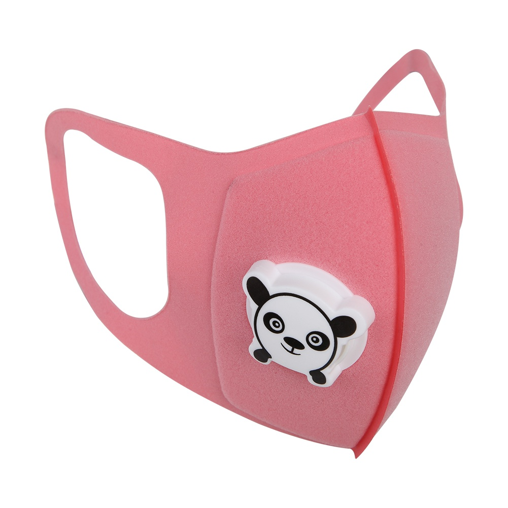2 Type High Quility 1/5Pcs Sponge Outdoor Dustproof Respirator Mask Kids Cartoon  Mouth Cover Dustproof Breathable Face Nose Filter Cover