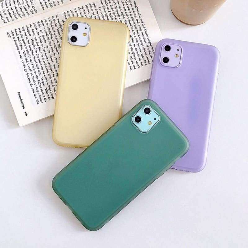 Candy Color Soft Phone Case for iPhone 11 11Pro 11Promax 7 8 Plus X Xs Xr Xsmax
