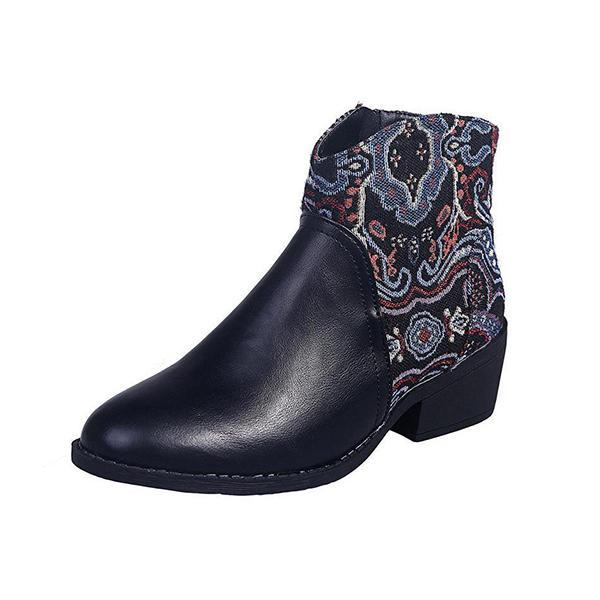 Bonnieshoes Snakeskin Round-Toe Ankle Boots