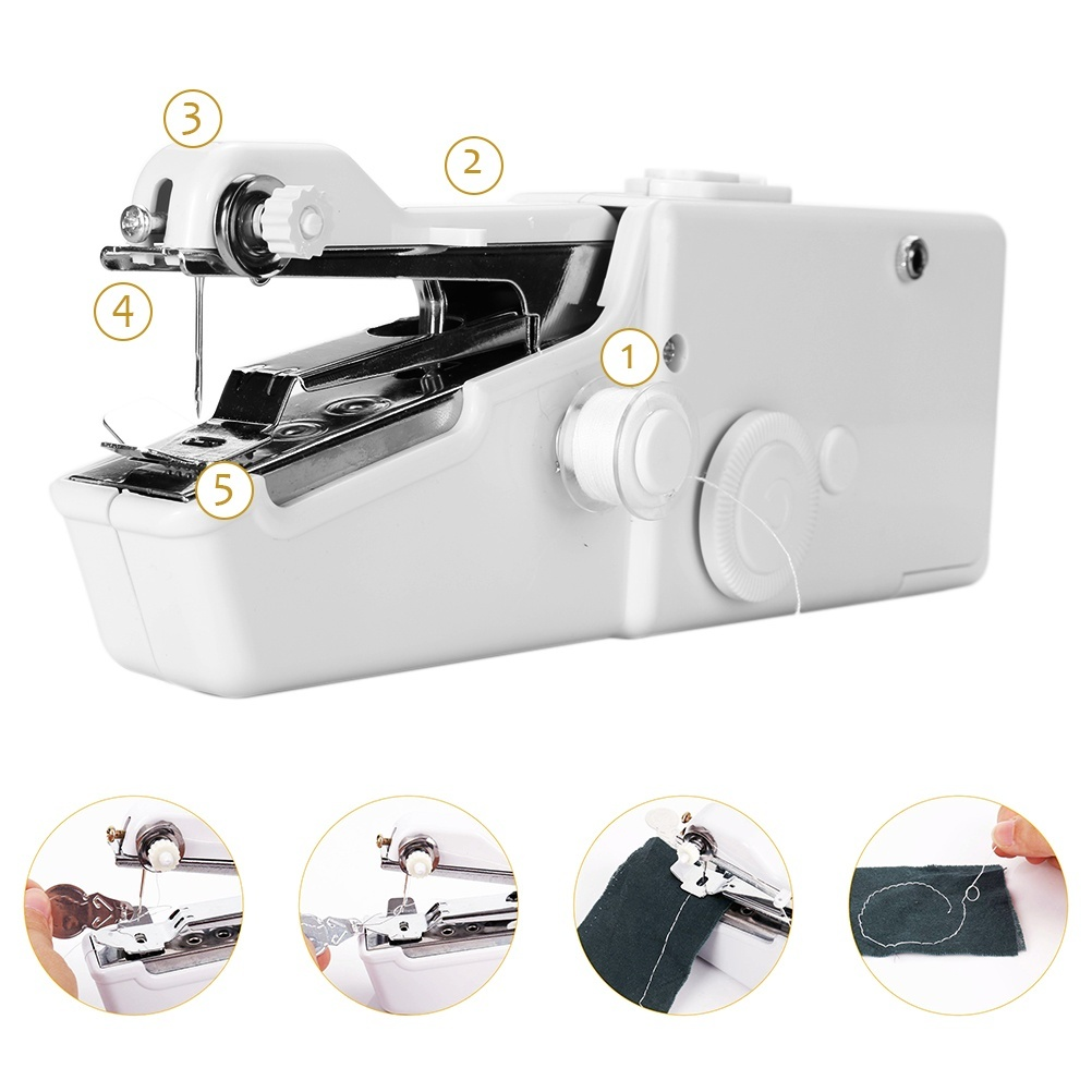 Multifunctional Mini Stitch Household Handheld Portable Travel Home Small Professional Electric Cordless Sewing Machine Tools For Fabric Clothing