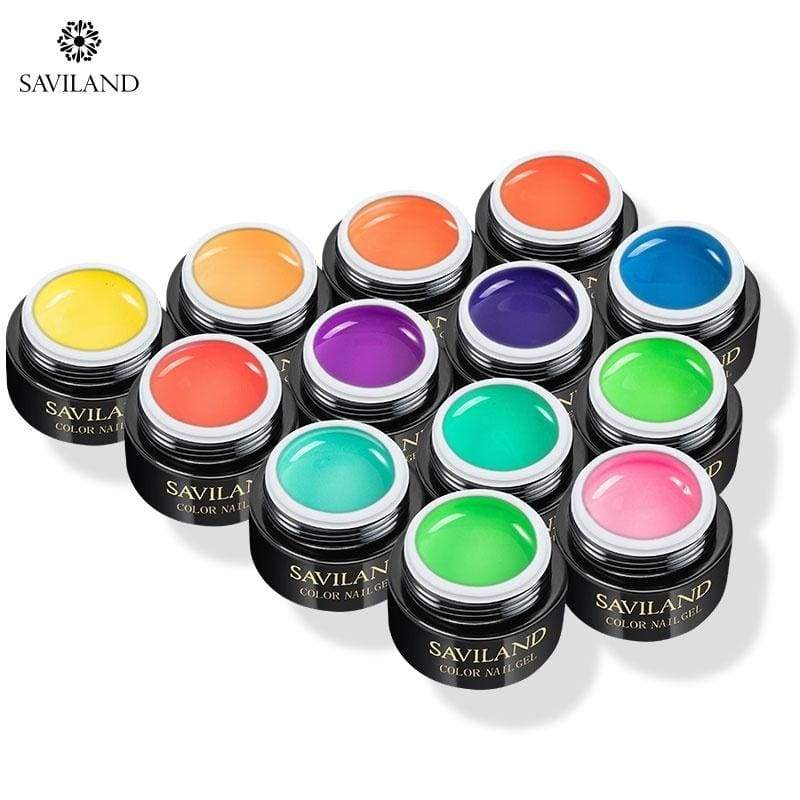 SAVILAND 13 Colros Neon Fluorescent Wire Drawing Gel Nail DIY Gel Pull Line Thick Elastic Paint Spider Nail UV Gel Lacquer