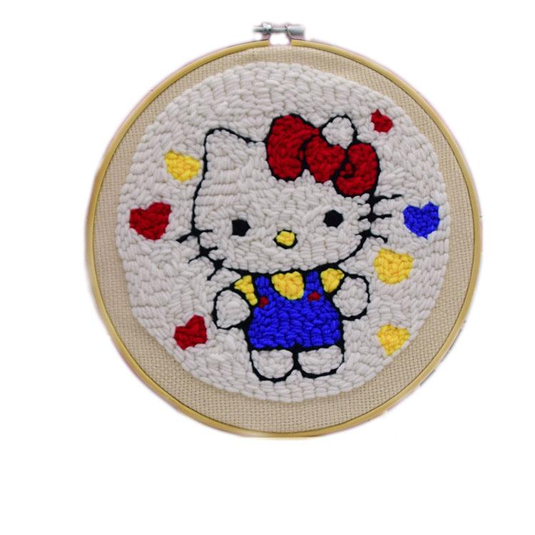 Handmade DIY embroidery - decompression wool decorative painting