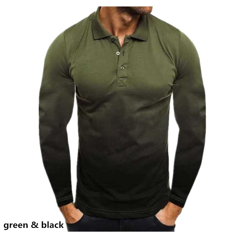 Men's Fashion Shirt Collar Solid Color 3D Long Sleeves