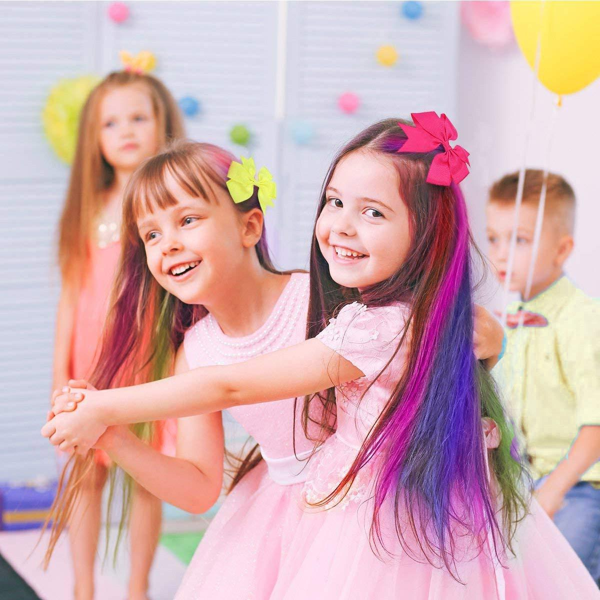 10 Colors Hair Chalk for Girls,Kids Temporary Bright Hair color,,Halloween Christmas Cosplay Parties