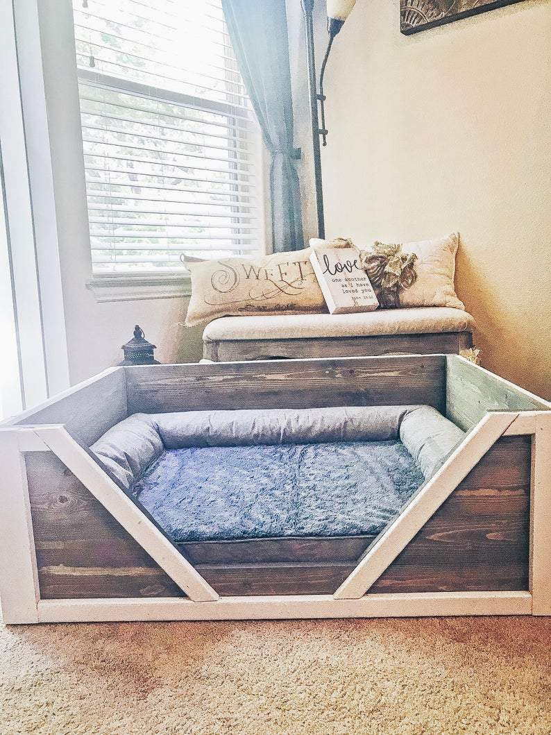 Indoor Wooden Dog Bed