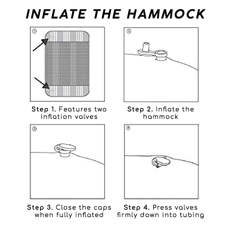 4-IN-1 Inflatable Hammock