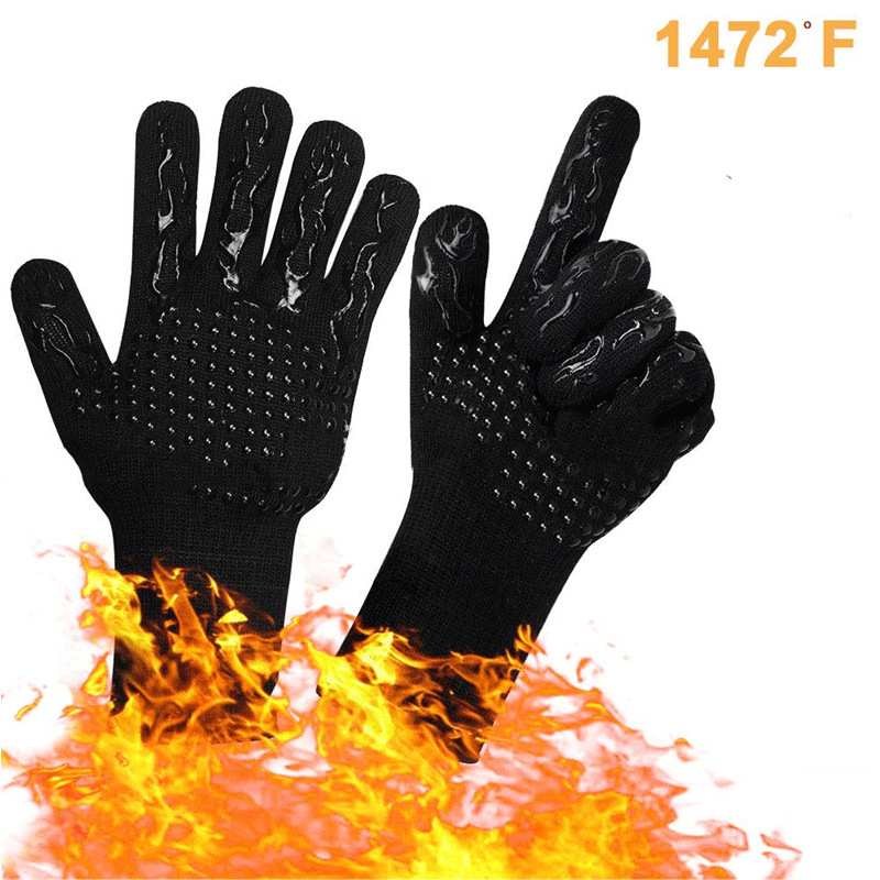 BBQ Gloves MILcea 1472°F Extreme Heat Resistant Grill Gloves